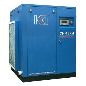 Винтовой компрессорСН-18КИ с клиноременным приводом и частотным преобразователем.