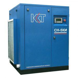 Винтовой компрессорСН-5КИ с клиноременным приводом и частотным преобразователем.