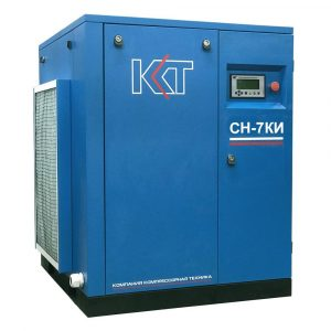 Винтовой компрессорСН-7КИ с клиноременным приводом и частотным преобразователем.