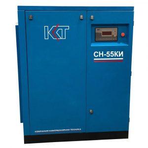 Винтовой компрессорСН-55КИ с клиноременным приводом и частотным преобразователем
